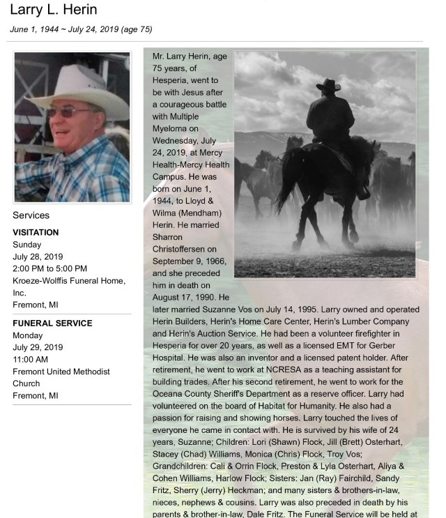 Dad Obituary